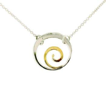 SS/14KY Little Spiral Necklace