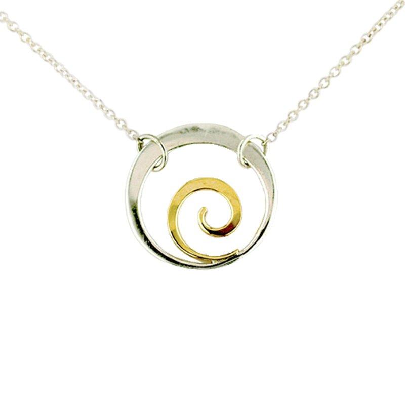 Tom Kruskal Designs SS/14KY Little Spiral Necklace