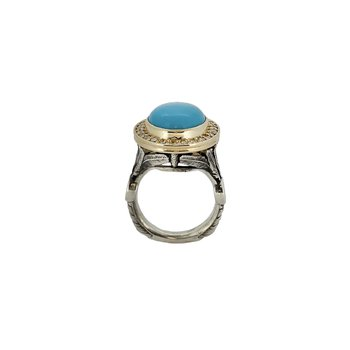 SS/18KY Turquoise Dream Catcher Ring with Diamonds