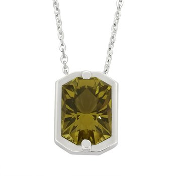 SS Citrine Pendant with Chain