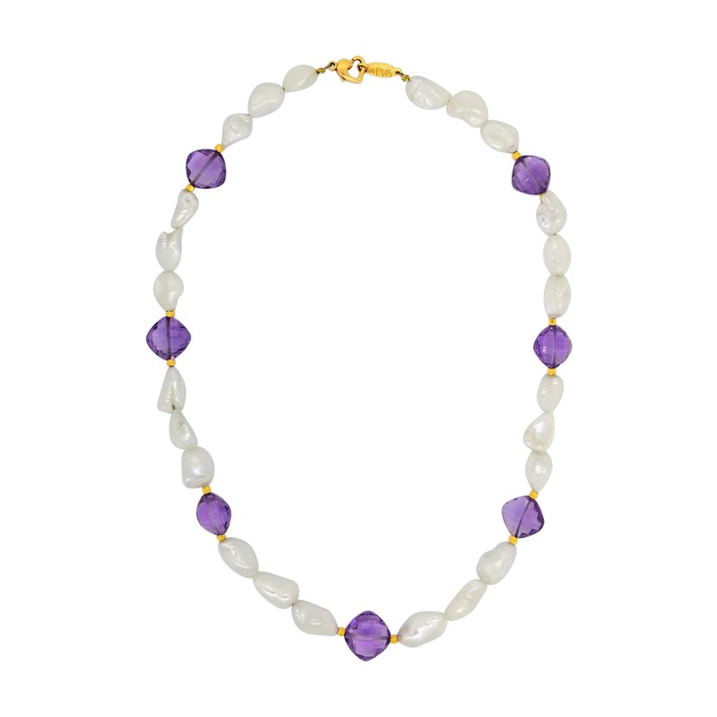 Estate Collection Estate Freshwater Pearl and Amethyst Necklace