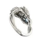 Facet Foundry Creations Turtle Ring with Pearl and Gemstones