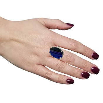 SS Lapis, Sugilite and Onyx Ring