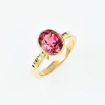 14KY Pink Tourmaline Ring
