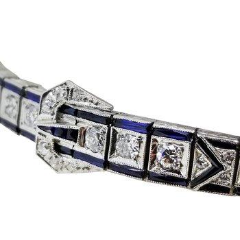 Estate 14KW Art Deco Buckle Bracelet