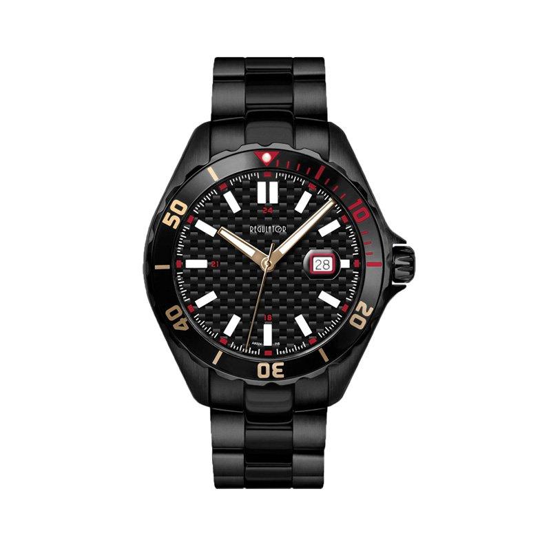 Regulator Regulator Black Stainless Steel Watch