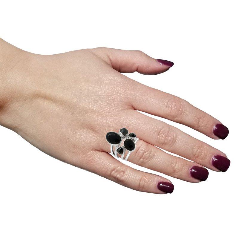 Lilly Barrack SS Black Tourmaline Ring