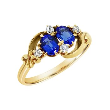 Estate 10KY Synthetic Sapphire Ring