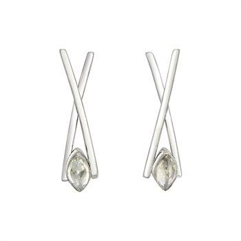 SS CZ Diamond Earrings