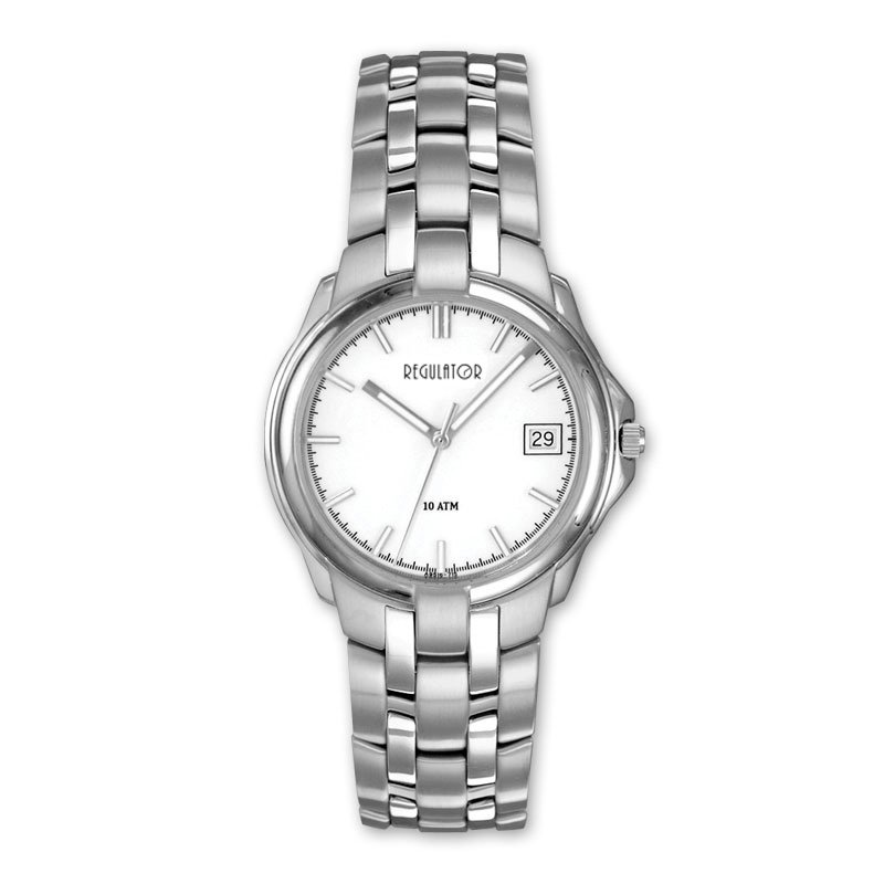 Regulator Regulator White Stainless Steel  Watch