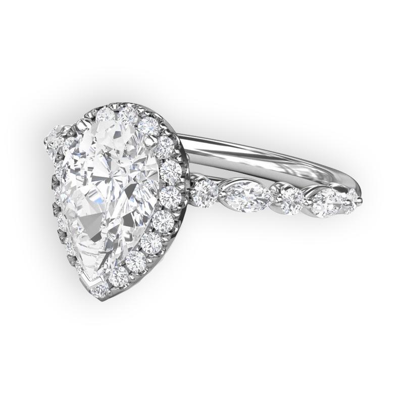 Kassab Custom Pear Halo Engagment Ring