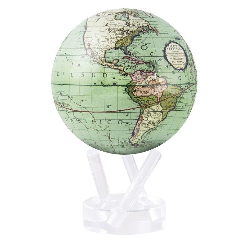 "Mova Globes 4.5"" Cassini Terrestrial Green"