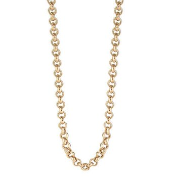 "35"" Rolo Rose Gold Plated Sterling Silver Chain"