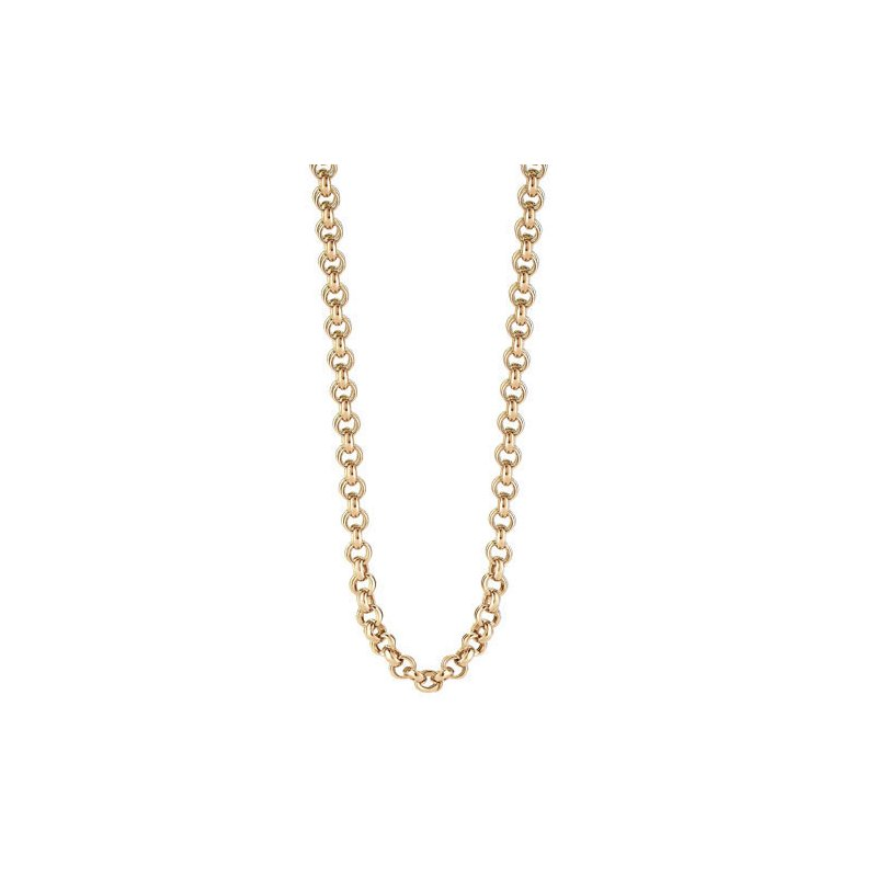 """Cosi Bella 35"""" Rolo Rose Gold Plated Sterling Silver Chain"""