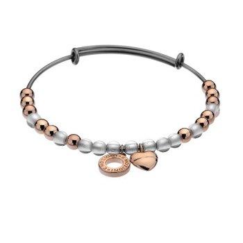 White Glass And Rose Beads Bracelet
