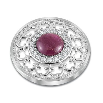 33Mm Ruby And White Topaz