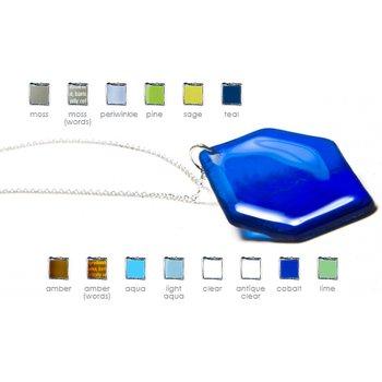 Hex Silver Large Pendant