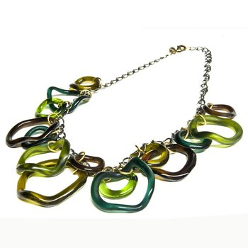 Large Wave Glass Necklace