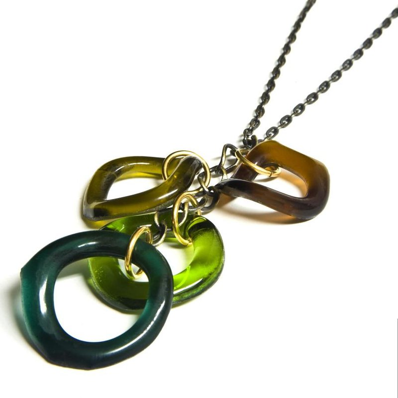 Smart Glass Chandelier Glass Necklace