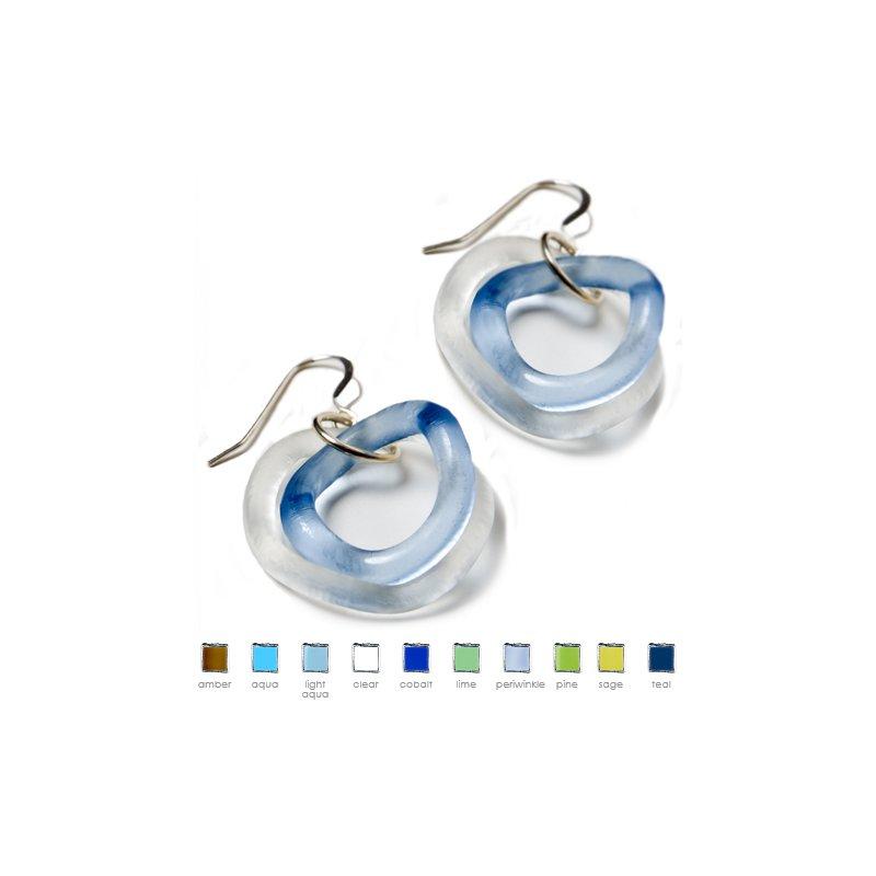 Smart Glass Small Wave Earrings