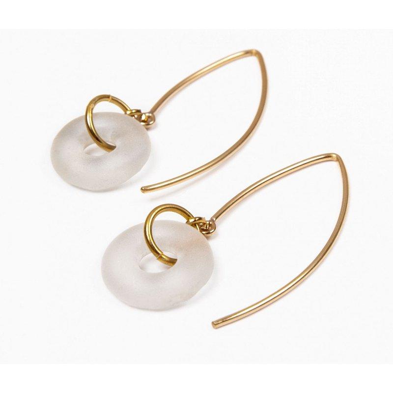 Smart Glass Mini Boomerang Dangle Earrings