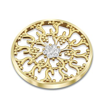 25Mm Ornate Yellow Cluster