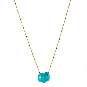 Mini Triple Glass Necklace