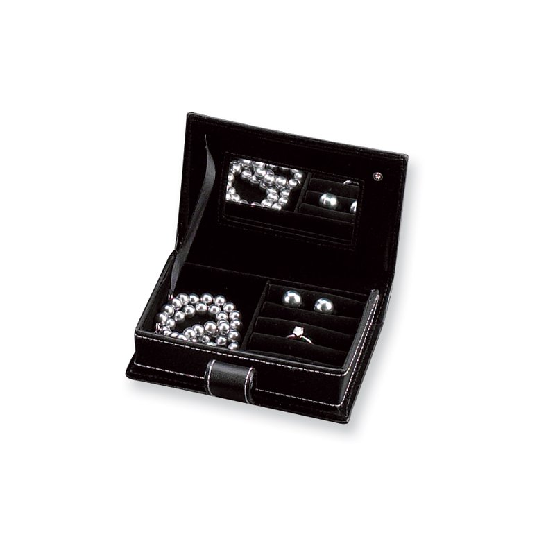 Lester Martin - Imports Black Leather Jewelry Case