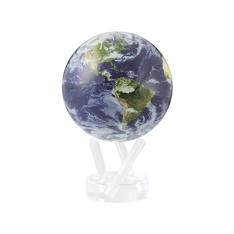 """Mova Globes 4.5"""" Satellite View With Cloud Cover Globe"""