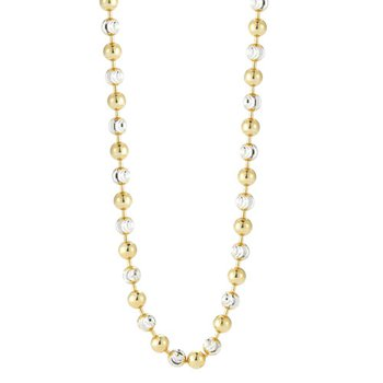 "35"" Diamond Cut Yellow Two Tone Chain"