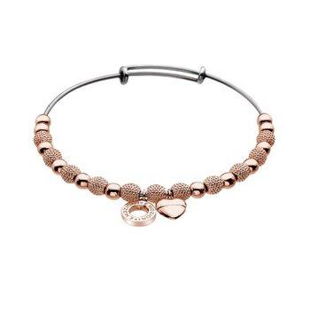 Rose Beads And Heart Ula Bracelet