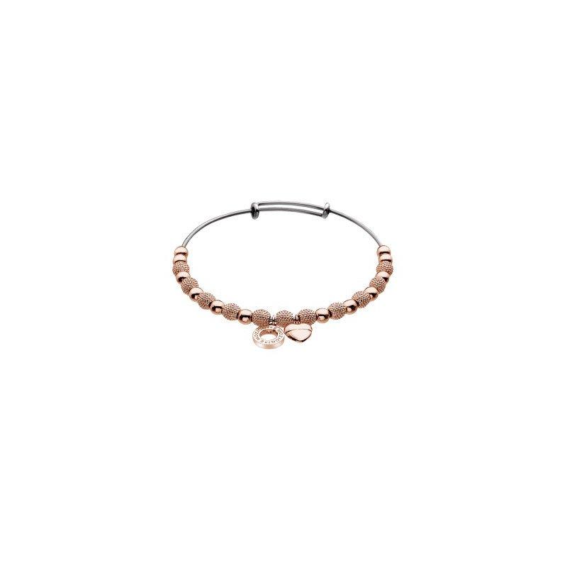 Cosi Bella Rose Beads And Heart Ula Bracelet