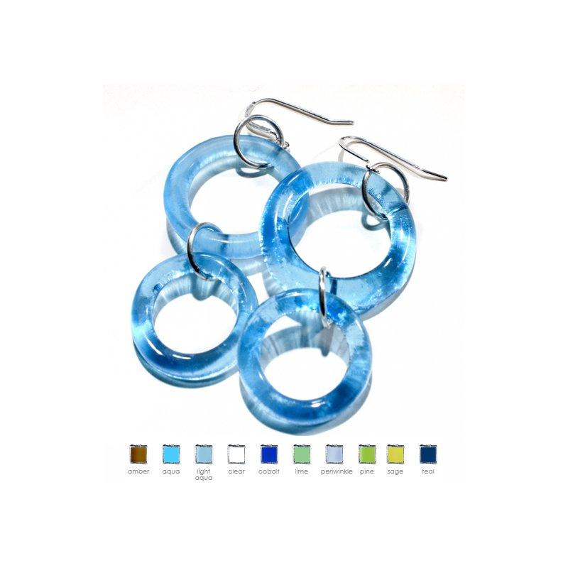 Smart Glass Double Dangle Earrings