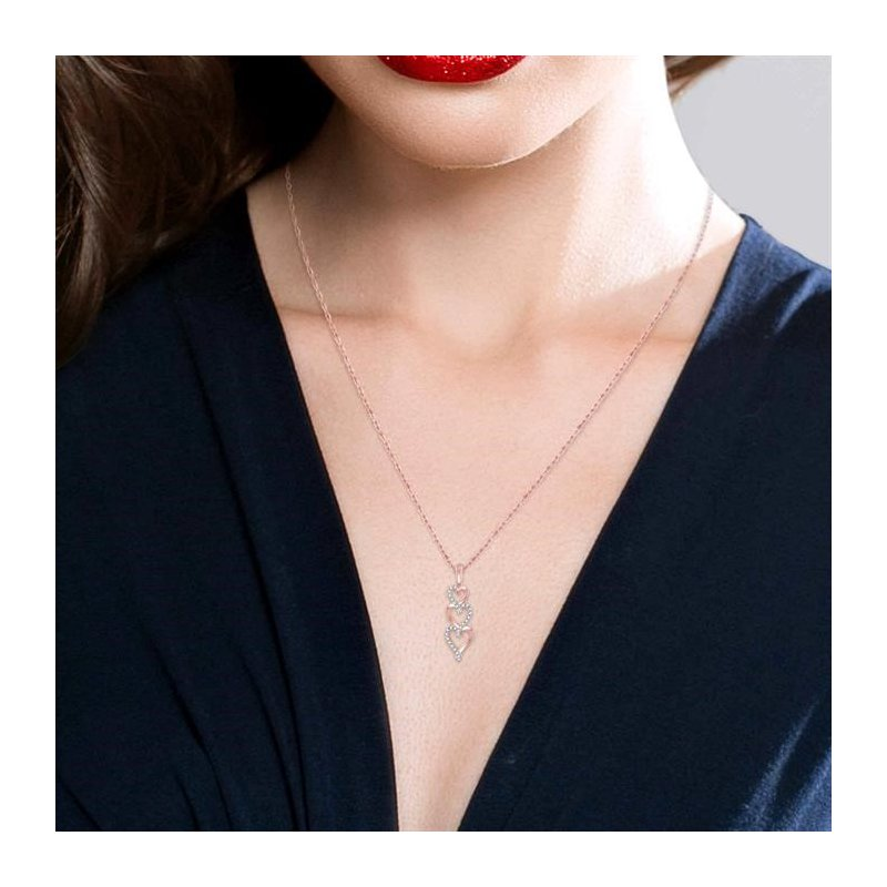 Lovebright Collection Jewelry TRI HEART DIAMOND PENDANT