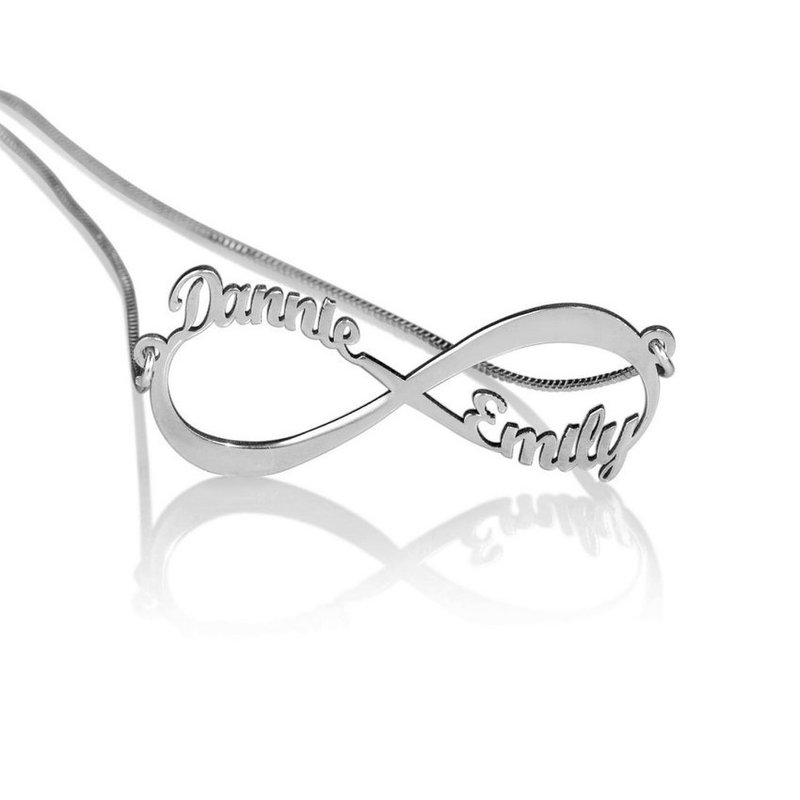 Casale Collections Personalized Infinity Name Necklace w/ Chain Included