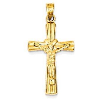 14k Reversible Crucifix / Cross Pendant