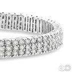 Lovebright Collection Jewelry THREE ROW DIAMOND BRACELET