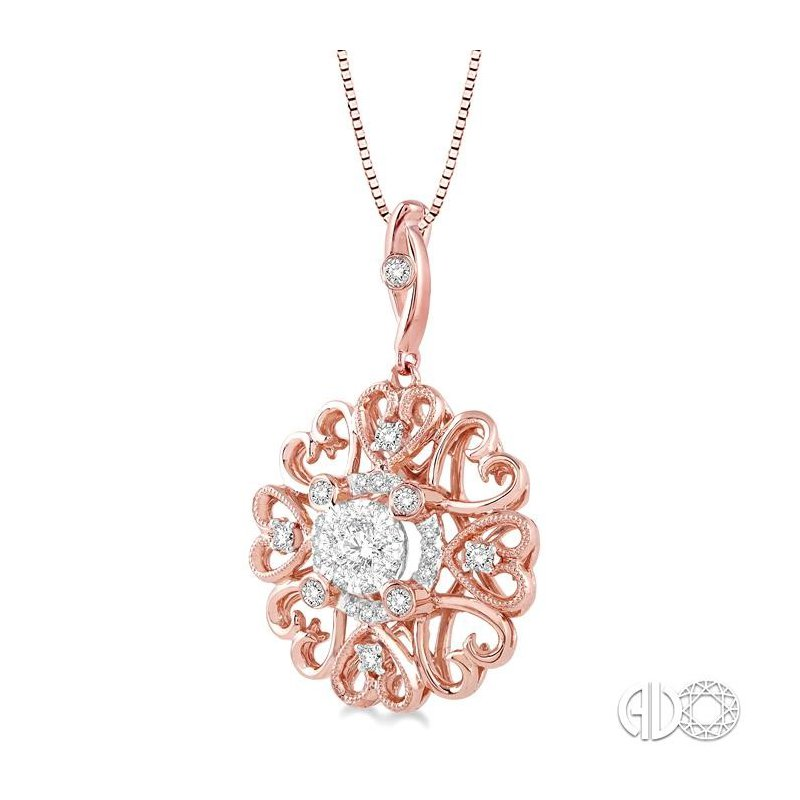 Lovebright Collection Jewelry FLOWER SHAPE LOVEBRIGHT DIAMOND PENDANT
