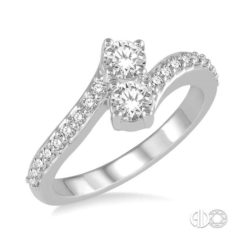 Lovebright Collection Jewelry 2STONE DIAMOND RING