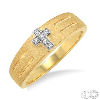 LADIES DUO CROSS DIAMOND RING