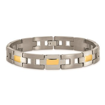 Titanium Yellow IP-Plated 9in Bracelet