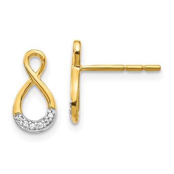 14k YG Infinity Earrings