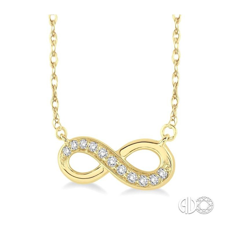 Lovebright Collection Jewelry INFINITY DIAMOND PENDANT