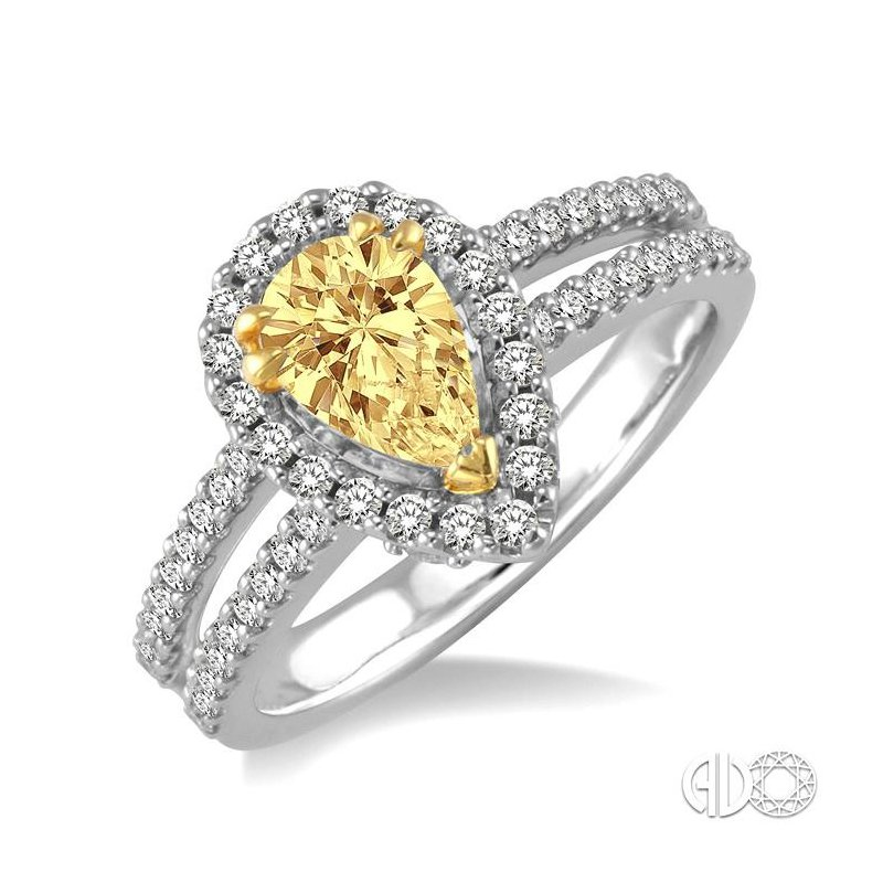 Lovebright Collection Jewelry PEAR SHAPE DIAMOND ENGAGEMENT RING