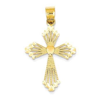 14K Passion Cross Pendant
