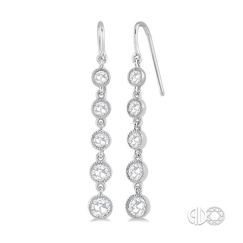 Lovebright Collection Jewelry Rose Cut Diamond Earrings