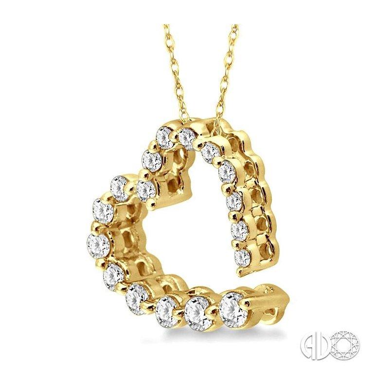Lovebright Collection Jewelry JOURNEY HEART DIAMOND PENDANT