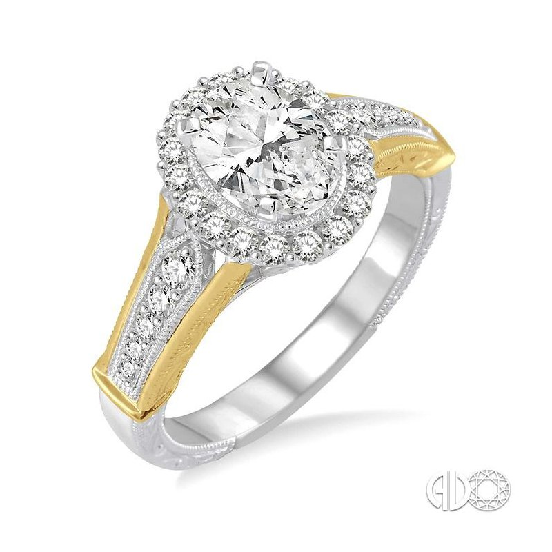 Lovebright Collection Jewelry OVAL SHAPE DIAMOND ENGAGEMENT RING