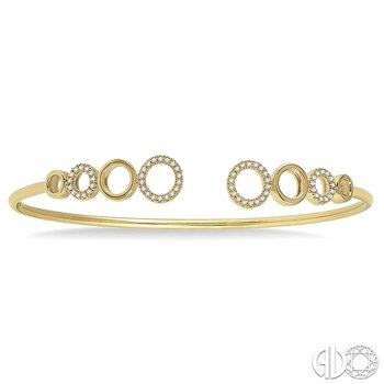 DIAMOND CIRCLE FLEXI BANGLE