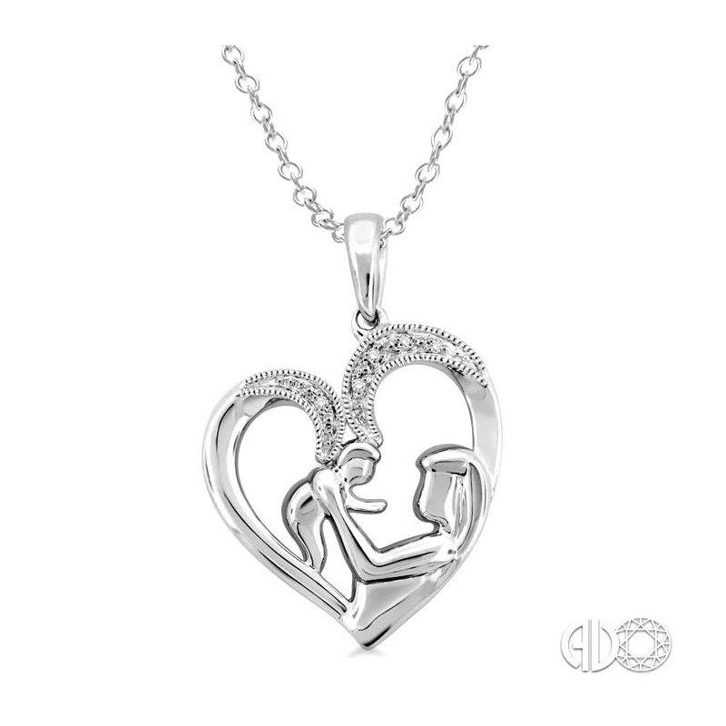 Lovebright Collection Jewelry SILVER CHILD & MOM DIAMOND PENDANT